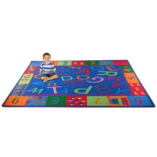 Comparison Alphabet and Numbers Teaching Toddler Area Rug By Kid Carpet