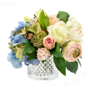 Mixed Hydrangea and Rose Bouquet
