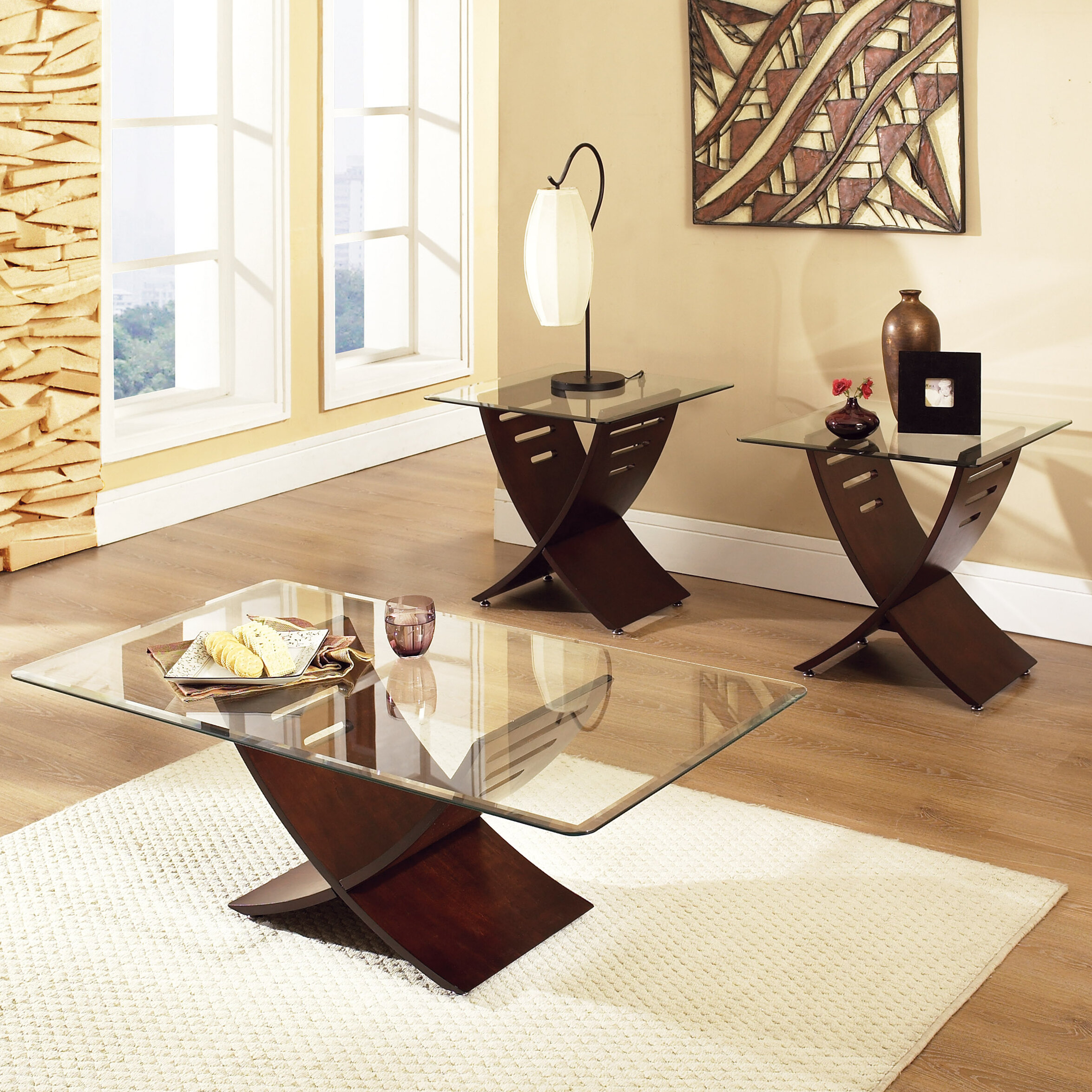 Wade Logan Alexios 3 Piece Coffee Table Set Reviews Wayfair