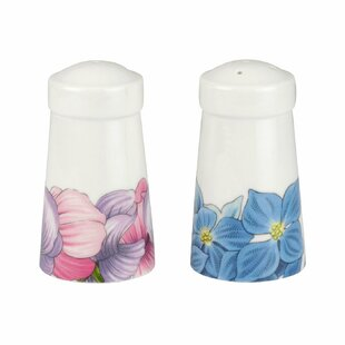 Botanic Blooms Hydrangea and Sweet Pea 2 Piece Salt and Pepper Set