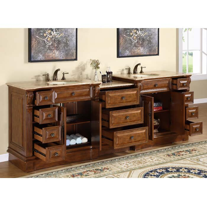 Astoria Grand Tomaso 95 Double Bathroom Vanity Set Reviews Wayfair