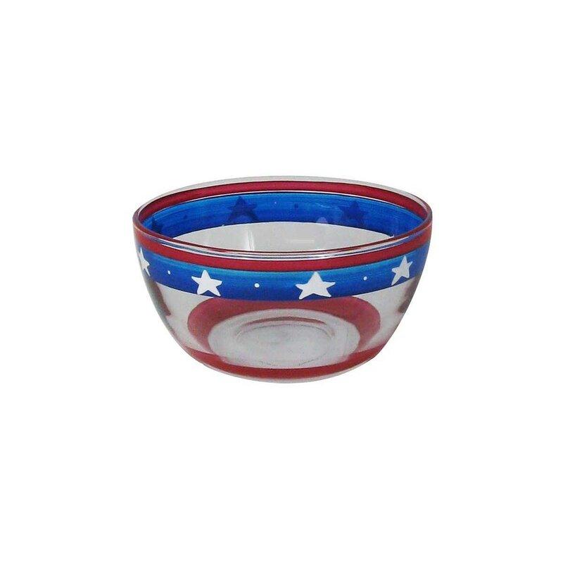 The Holiday Aisle Patriotic Stars And Stripes Dessert Bowl Wayfair