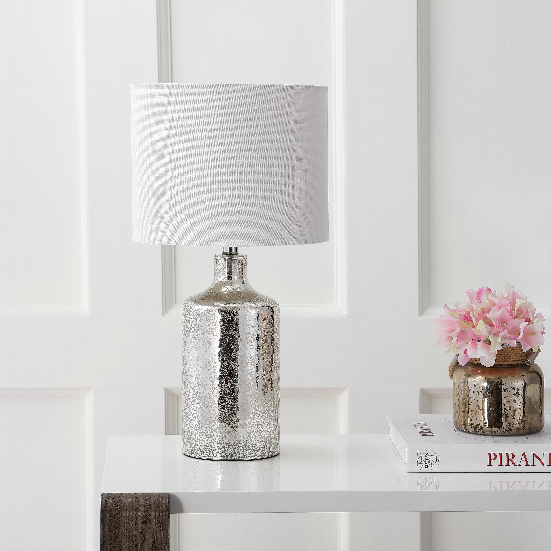 1:24 Dollhouse Miniature Pink /& White Lampshade Mini Crystal Lamp Dresser Light