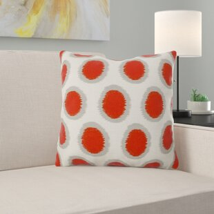 Lobos Pretty Polka Dot Linen Throw Pillow