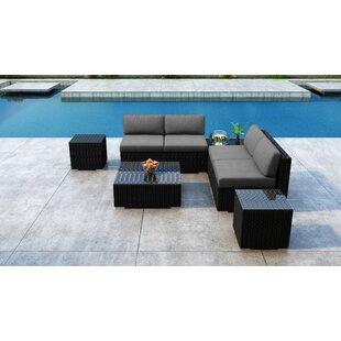 Everly Quinn Glendale 7 Piece Sectional Set with Sunbrella Cushion