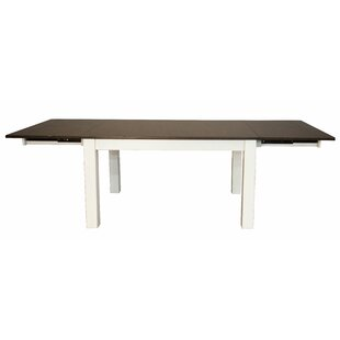 Aguero Extendable Solid Wood Dining Table Canora Grey