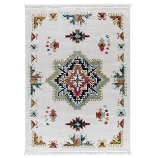 Rheba White Area Rug By Bungalow Rose