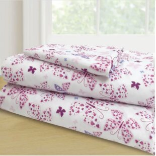 Randel 3 Piece Butterflies Sheet Set
