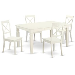 Septimus 5 Piece Solid Wood Dining Set Alcott Hill