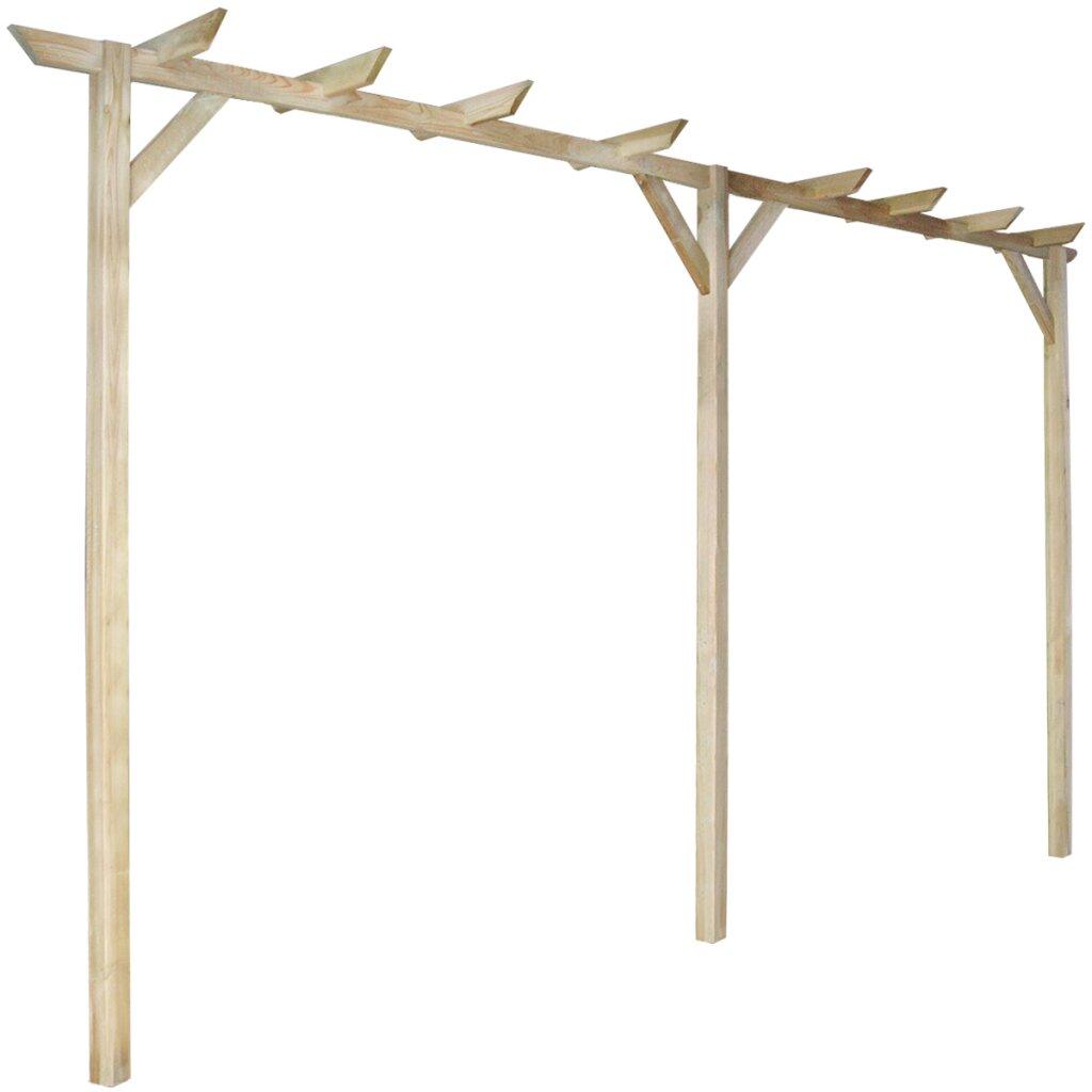2.1m x 0.4m x 4m Wood Pergola