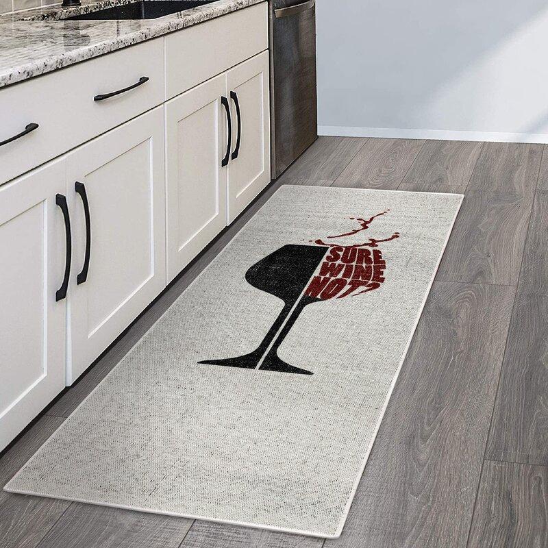 Trinx Wine Decor Floor Kitchen Mat Reviews Wayfair