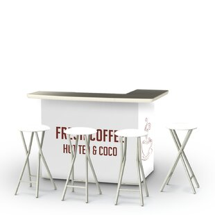 Coffee 7 Piece Bar Set