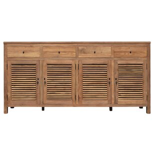 Flagler Recycled Teak 4 Door Accent Cabinet by Loon Peak