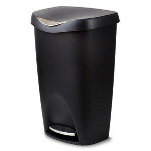plastic 13 gallon step on trash can - 13 Gallon Trash Can