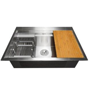 Drain Board Kitchen Sink   Wayfair