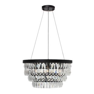Reviews Anwen Drum 6-Light  LED  Chandelier By Everly Quinn