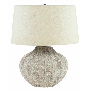 Morpeth Cement Bowl Vase 22 Table Lamp