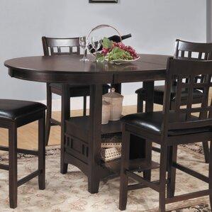 Araiza Counter Height TableOval Kitchen   Dining Tables You ll Love   Wayfair. Arlington Round Sienna Pedestal Dining Room Table W Chestnut Finish. Home Design Ideas