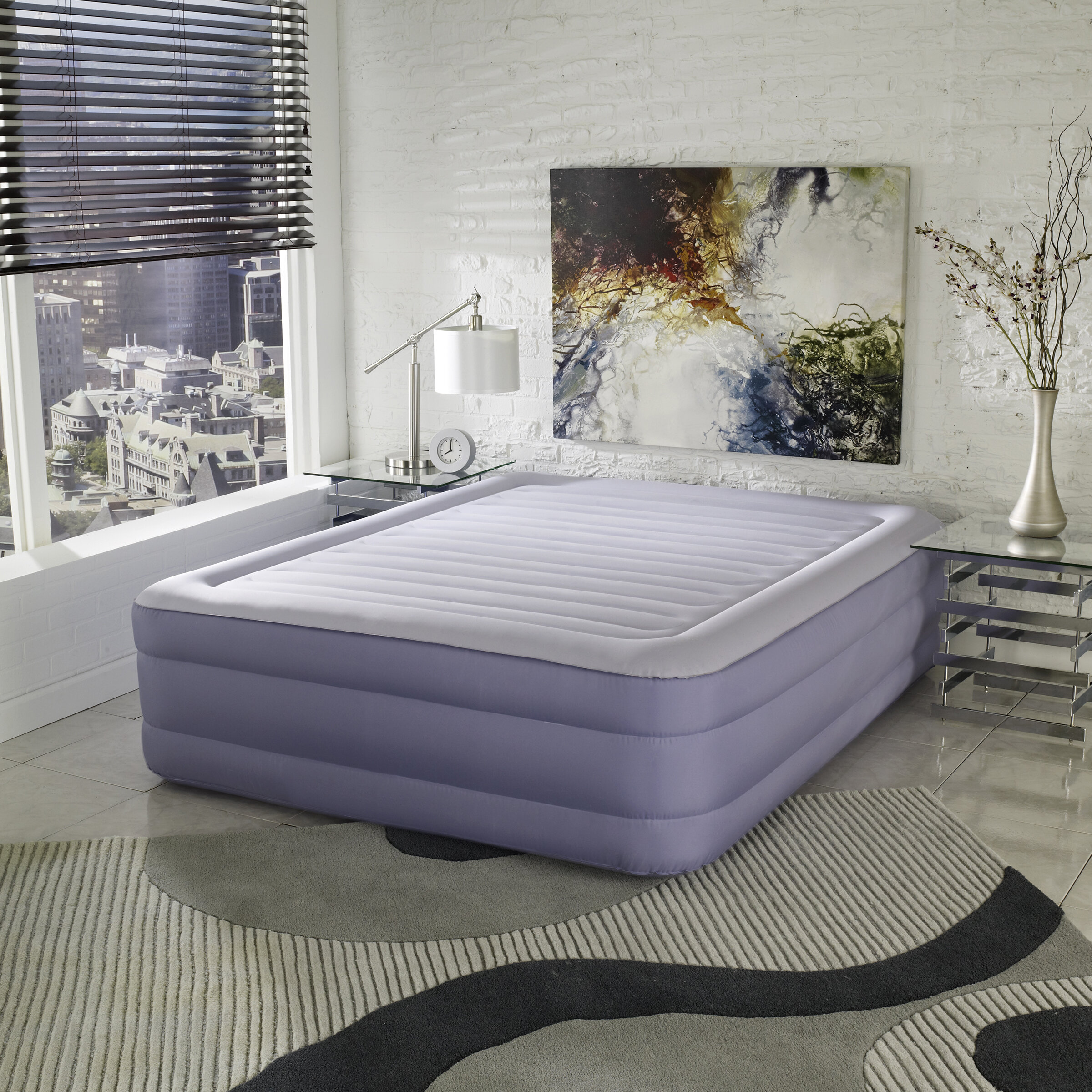 built queen walmart in with ip com electric intex mattress air downy raised pump airbed