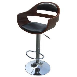 Leicester Adjustable Height Bar Stool George Oliver