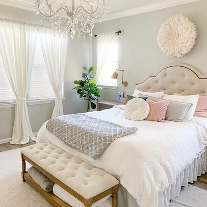 Glam design ideas wayfair - Queen bed ideas for small room ...