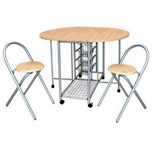 Aloisio Folding Dining Set With 2 Chairs By 17 Stories