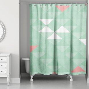 Mint And Grey Shower Curtain. Nowicki Triangle Mint Shower Curtain Green  Wayfair