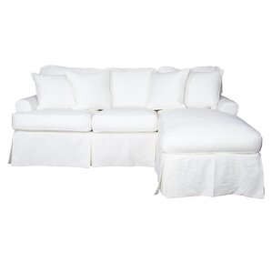 Coral Gables T-Cushion Sofa Slipcover Set by Beachcrest Home