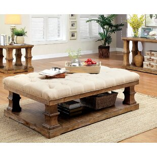 Gracie Oaks Charlotte Coffee Table with Cushion Top