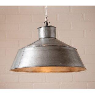 Gracie Oaks Kerr 1-Light Dome Pendant