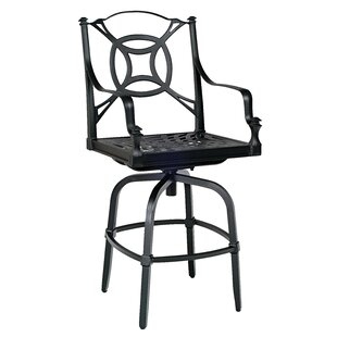 Woodard Isla Swivel Patio Bar Stool with Cushions