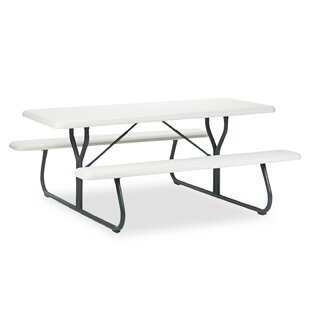 Iceberg Indestruc-Tables Too? Picnic Bench Table Plastic/Resin Picnic Table by Iceberg Enterprises
