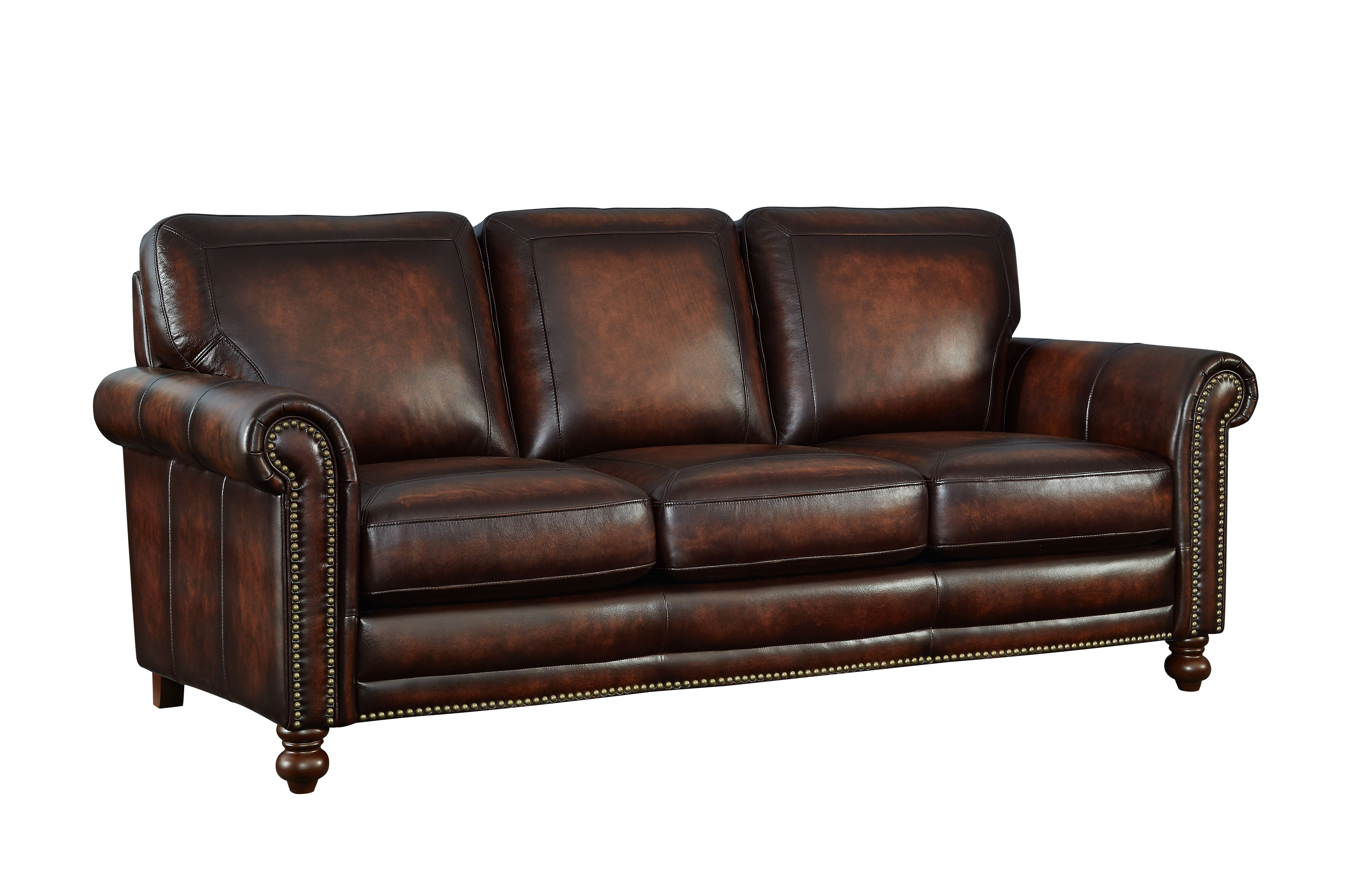 Darby Home Co Cecília Leather Sofa