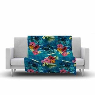 Buying Victoria Krupp Paradise Island Floral Fleece Blanket ByEast Urban Home
