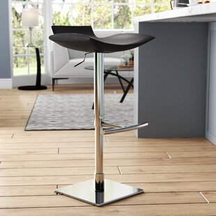 Donora Adjustable Height Swivel Bar Stool Wade Logan