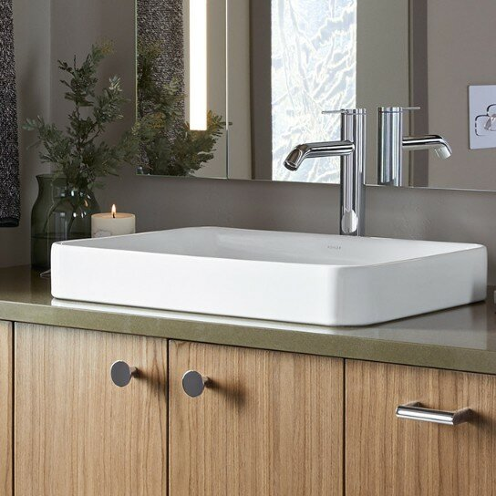 K 5373 0 Kohler Vox Vitreous China Rectangular Vessel Bathroom Sink With Overflow Amp Reviews