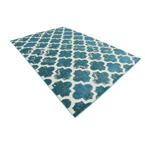 Sarno Turquoise Indoor/Outdoor Area Rug