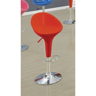 Ryals Contemporary Adjustable Height Swivel Bar Stool (Set of 2)