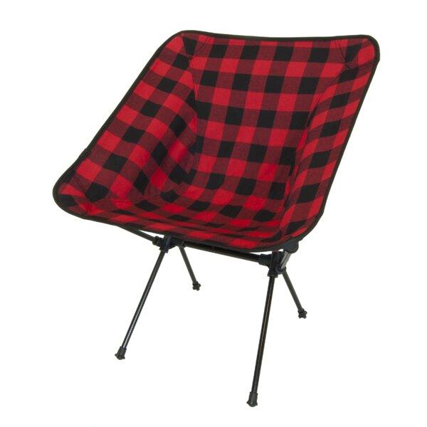 Nice Loon Peak Winston Buffalo Plaid Folding Camping Chair | Wayfair