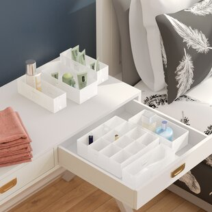 6 Piece White Drawer Organize Set