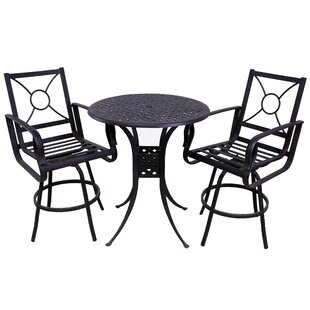 Waynesburg 3 Piece Dining Set with Cushions by Red Barrel Studio