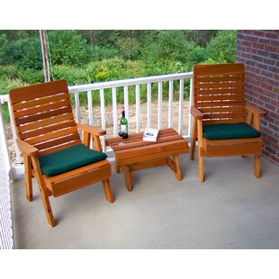 Cedar 3 Piece Conversation Set by Creekvine Designs No Copoun