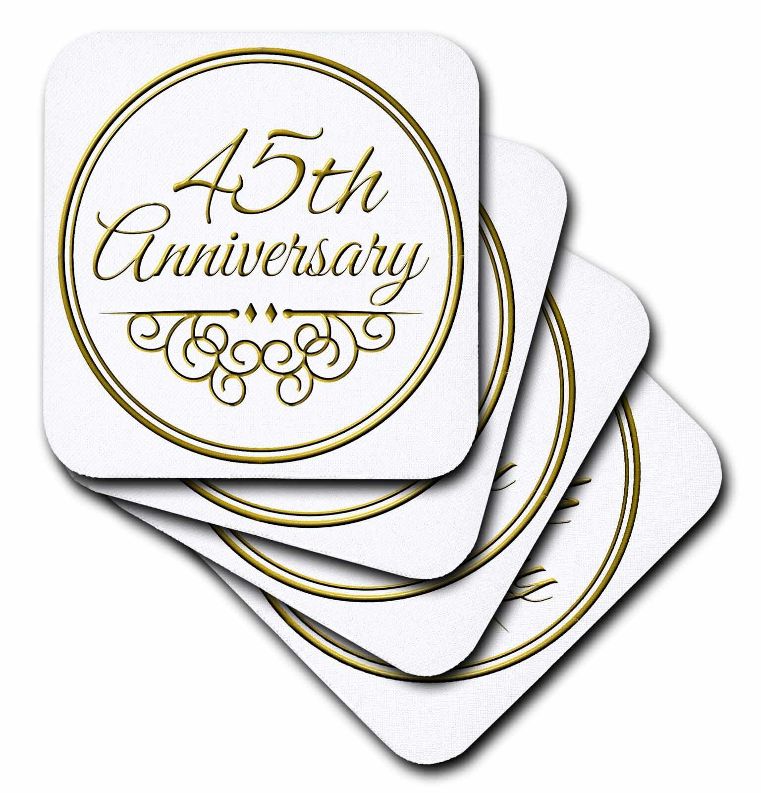 Winston Porter 45th Anniversary Gift Ceramic Tile Coaster Wayfair