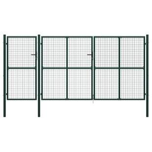 Adamma Garden 13' X 7' (4m X 2m) Metal Gate By Sol 72 Outdoor