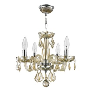 Astoria Grand Weisser 4-Light Candle Style Chandelier