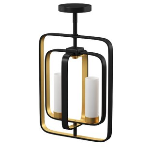 Maziarz 2-Light Square/Rectangle Pendant by Mercury Row