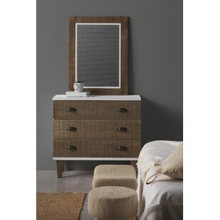 Nellie 3 Drawer Chest Of Drawers With Mirror By August Grove