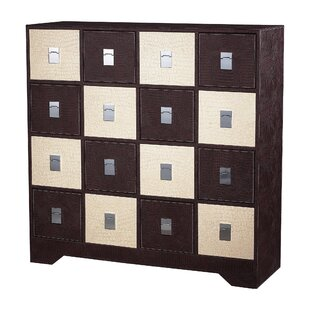 Halfmoon 16 Drawer Accent Chest