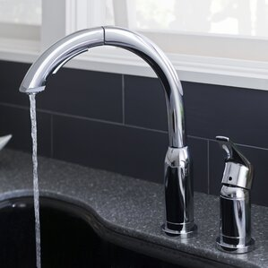 American Standard Arch Single Handle Kitchen Faucet with Pull Out Spray