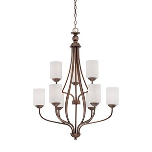 Read Reviews Lansing 9-Light Shaded Chandelier By Millennium Lighting